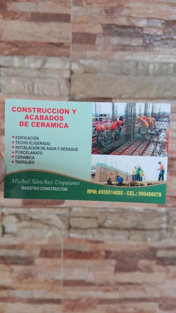 Maestro Constructor Y Edificacion