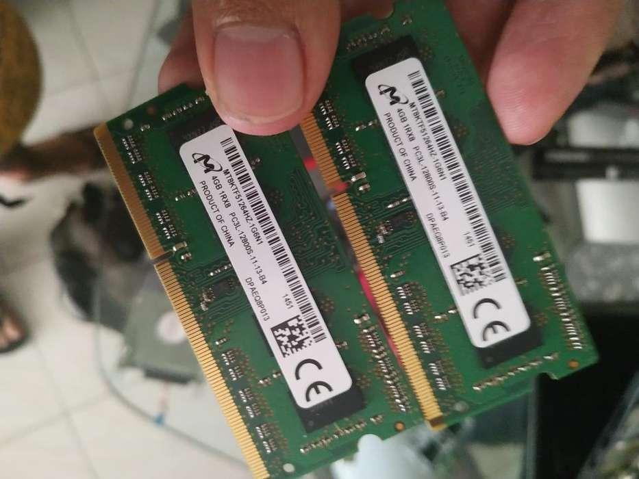 2 Memoria Ram de 4 Gb para Portátil