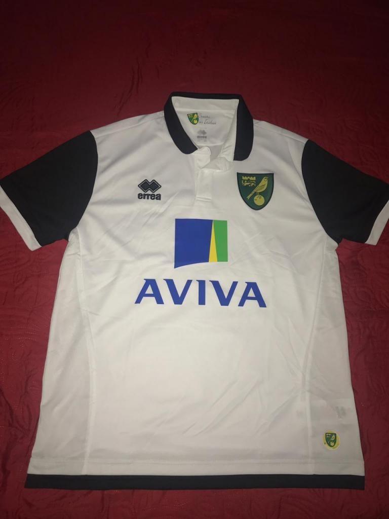 Camiseta Norwich Inglaterra Errea 2018 Totalmente Original