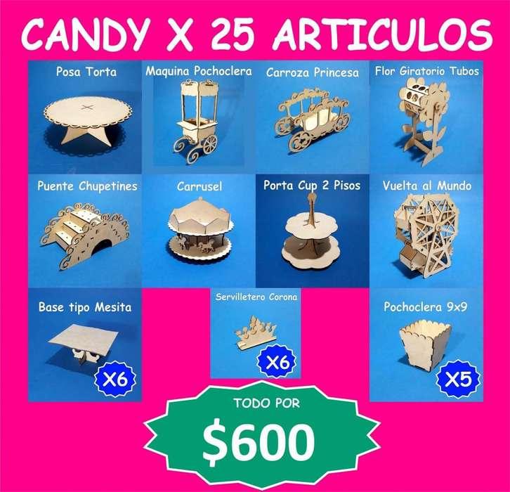 Candy Bar x 25 <strong>articulos</strong> 600 (venta no alquiler)