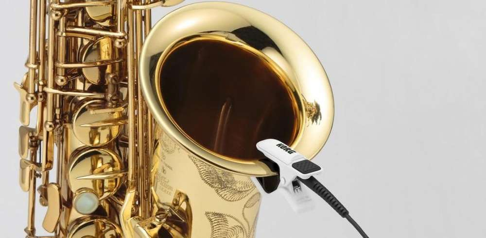 MICROFONO DE CONTACTO KORG DE VIENTOS SAXOFON <strong>trompeta</strong> TROMBON PROFESIONAL NUEVOS