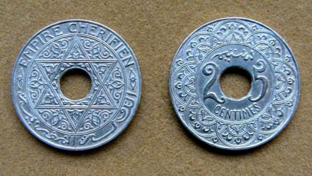 Moneda de 25 céntimos Marruecos 1921