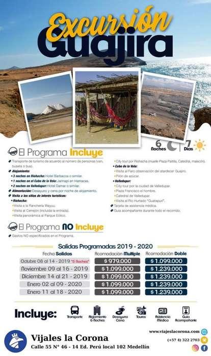 Viaje como un Rey a la Guajira con Viajes la Corona