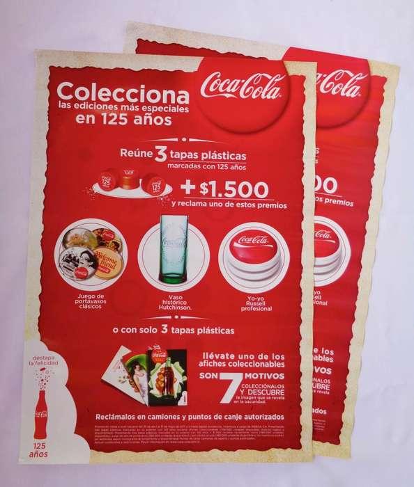 Afiche promocional Colección Coca Cola 125 años
