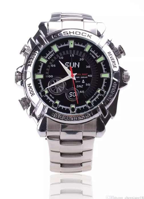 CL30 Camara Reloj Pulso Ejecutivo Espia V.Nocturna MP3 Fhd 1080p 32Gb INCLUIDA GRATIS
