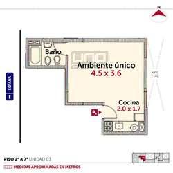 España y Zeballos - Dpto Monoambiente. 12 CUOTAS FIJAS. Posibilidad cochera. Vende Uno Propiedades