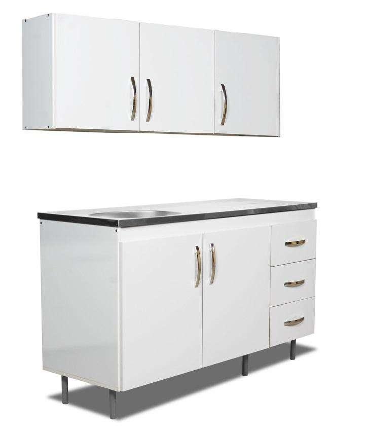 Conjunto de Alacena y Bajomesada de 1,20 mts // Linea Arco // Amoblamientos // Muebles de Cocina // Tu Hogar Online