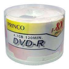 Disco Dvd Imprimible Princo 4.7 Gb Cono 50 Unidades Sellado