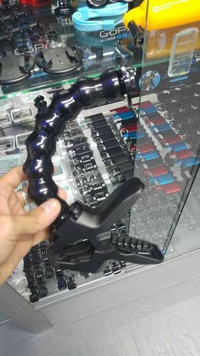 Agarre, soporte o pinza Goose Neck giratorio Cámaras GoPro