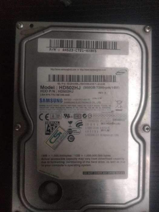 Disco Duro 500gb Samsung 7200 Rpm