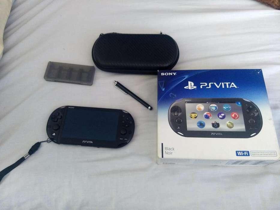 psp vita slim practicamente nuevo en caja con todos sus accesorios
