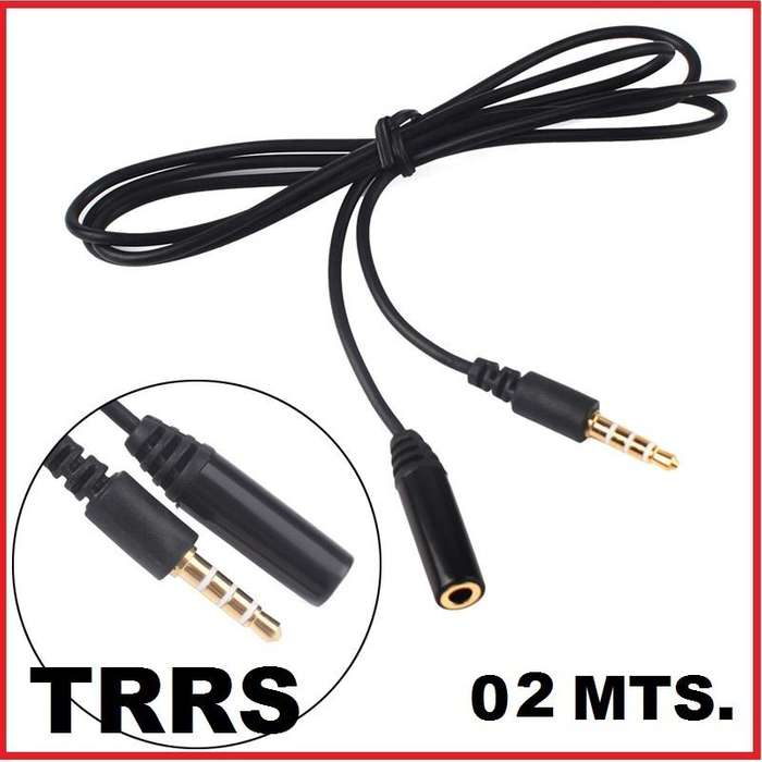 Cable Extension Trrs Microfono Audifonos 02 Mts Hembramacho