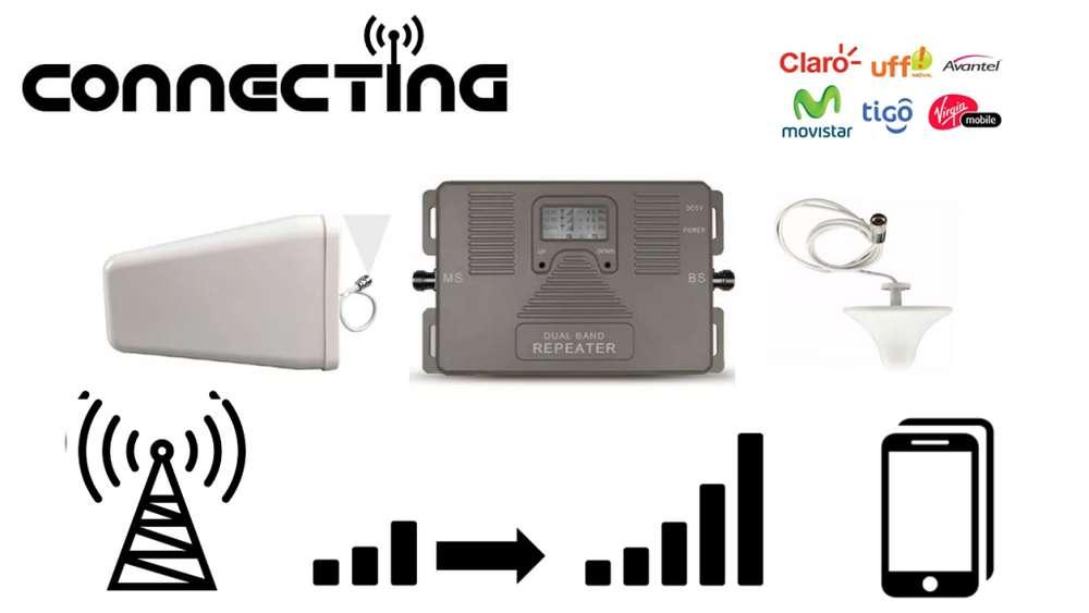 Amplificador Señal Celular-solución Comunicación Área Rural