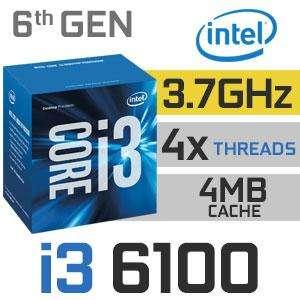 Procesador intel i3 6100 3.7ghz