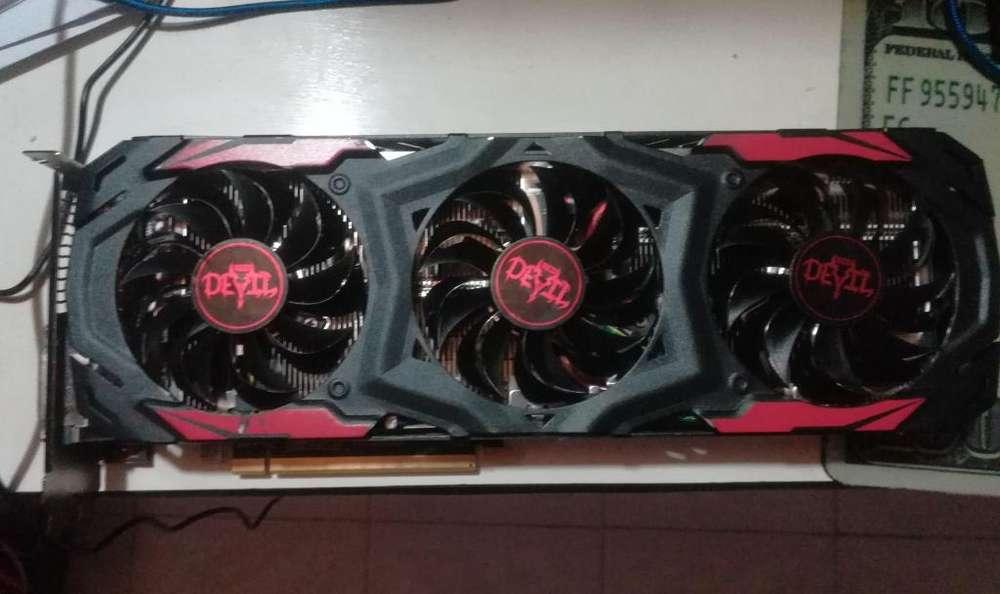 Tarjeta de video RX 570 Red devil 4GB DDR5 mejor que GTX1050ti