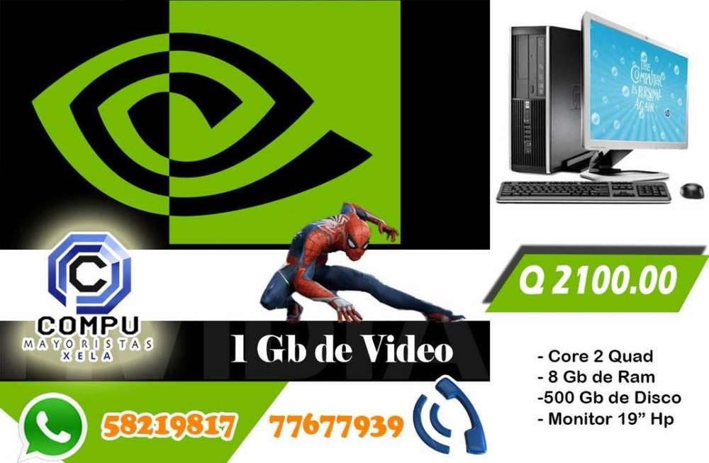 Computadora DELL Core2Quad *8gb de Ram *500 Gb de Disco * Video de 1 Gb