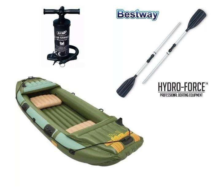 Bote Inflable Bestway Hf Neva  3 Pers Remos Alum Inflador