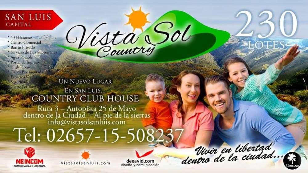 VENTA DE LOTES TERRENOS COUNTRY VISTA SOL SAN LUIS