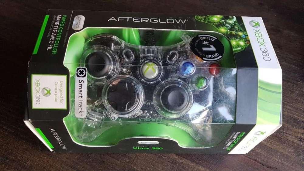 Mando Control Con Cable Para Xbox 360 Transparente Afterglow
