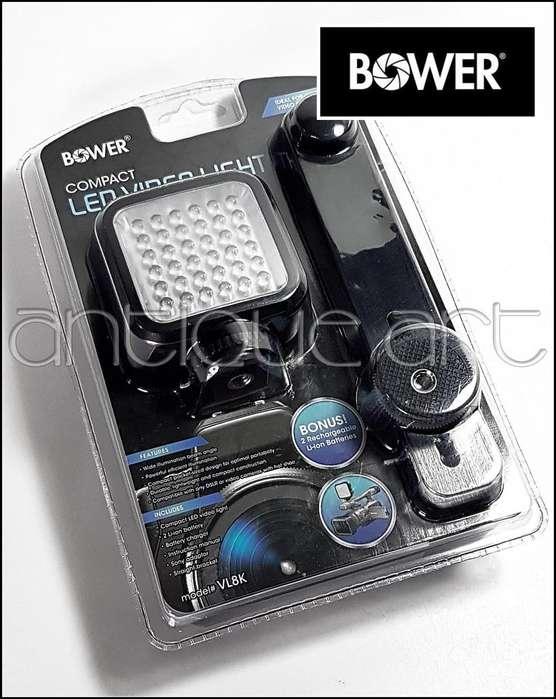 A64 Luz Led Video Bower 36 Brazo Zapata 2 Baterias Cargador