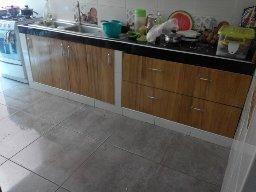 Muebles bajos de cocina en melamine empotrable - Lima