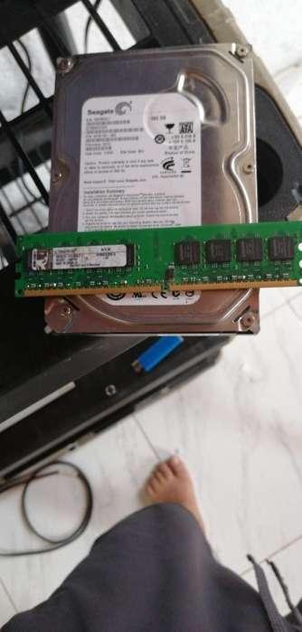 Disco Duro 500 Gb Y Memoria Ddr