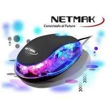 MOUSE USB NETMAK NM-M01 LUMINOSO Cod.2564 Cod.2565 Cod.2566