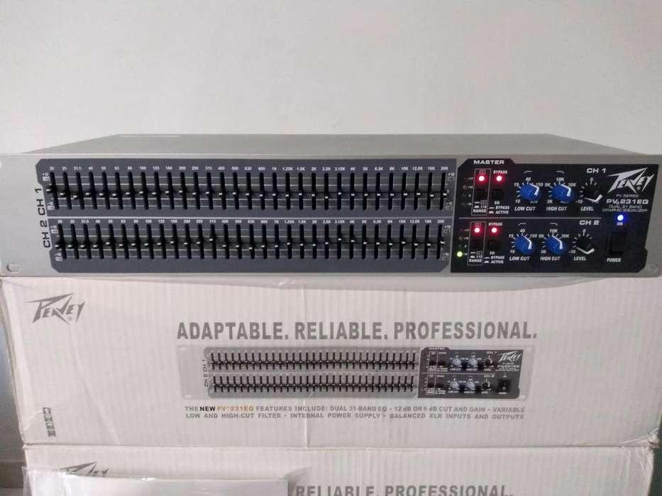 ecualizador profesional peavey de 31 bandas nuevo de caja para plantas <strong>amplificadores</strong>