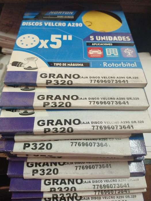 Set 5discos Gr320 Velcro Norton