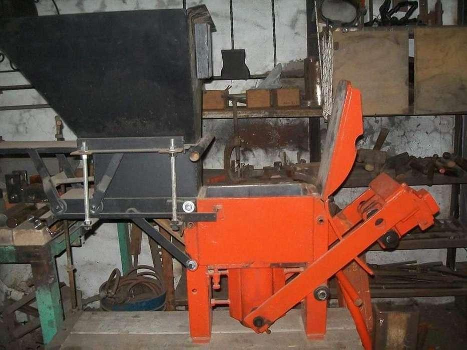 Prensa para fabricar ladrillos