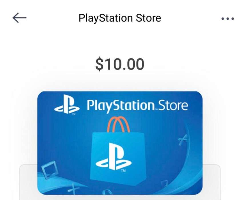 Playstation Gift Card Ps4 Tarjeta Regalo