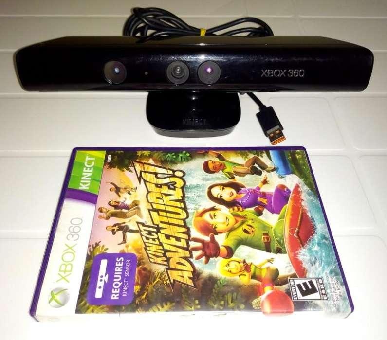 Sensor Kinect Xbox 360 con su Juego original, en excelente estado