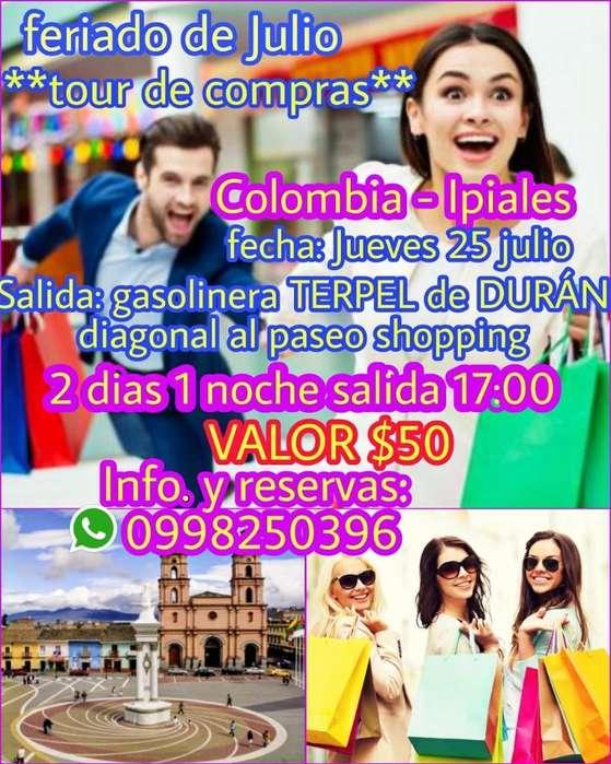 Tour a Colombia Ipiales El 25 de Julio