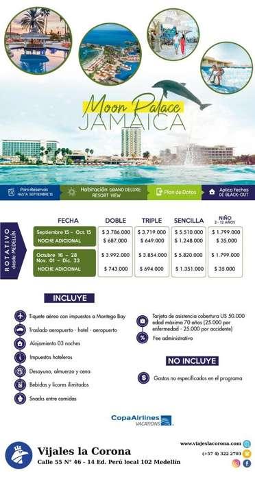 Viaje como un Rey a Jamaica H. MOON PALACE JAMAICA con Viajes la Corona