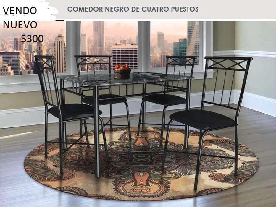 JUEGO DE COMEDOR NUEVO 4 PERSONAS
