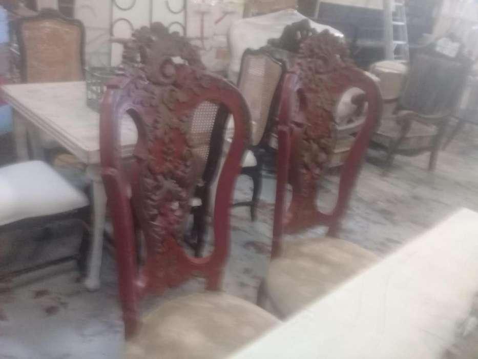 sillas y bancos