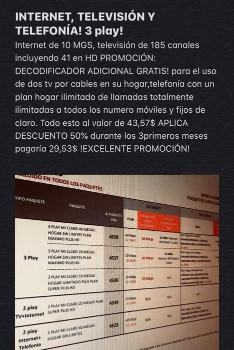 3 Play Internet Television Y Telefonia