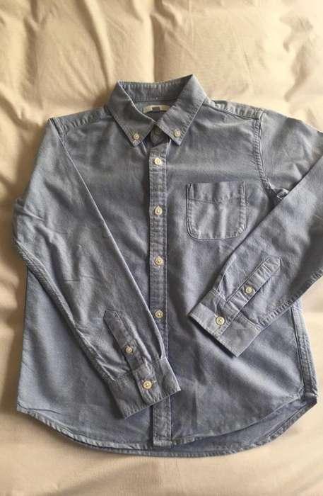 Camisa Niño Uniclo Talla 89 Azul