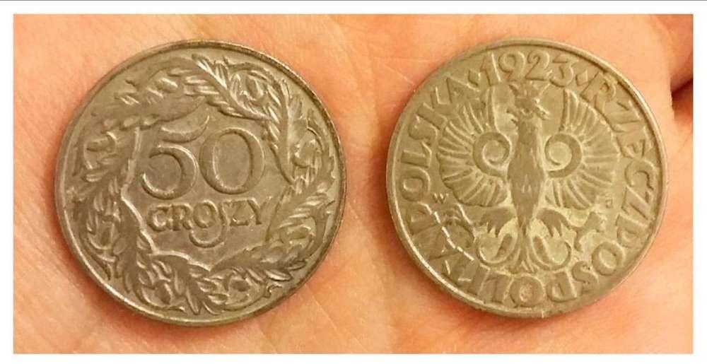 Moneda Polonia 50 Groszy 1923 45