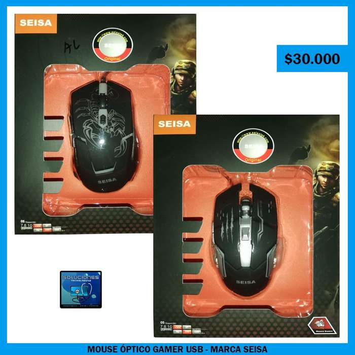 Mouse Óptico Gamer USB - Marca SEISA