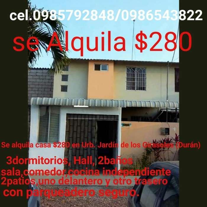 Alquilo Linda Casa en Durán