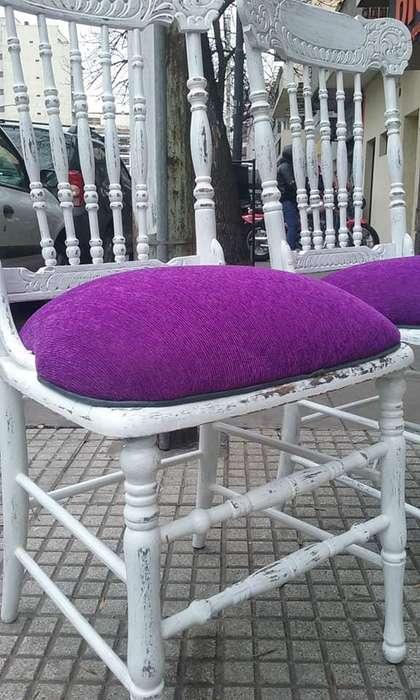 hermosas sillas restauradas con GLAM