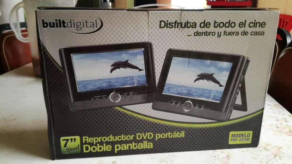 Reproductor Dvd Portatil Doble Pantalla