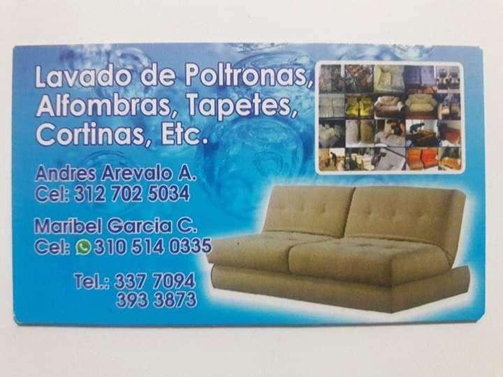 LAVADO DE MUEBLES TAPETES CORTINAS POLTRONAS ETC.. ANDRES AREVALO