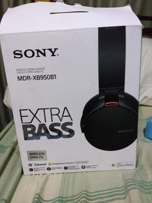Audífonos Sony Inalambricos Extra Bass