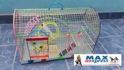 Jaula Amplia para Hamster Raton Rueda Viruta de Pino DELIVERY