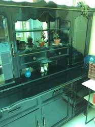 Bufetero con Guarda Vasos de Madera en Buen Estado 2 Piezas