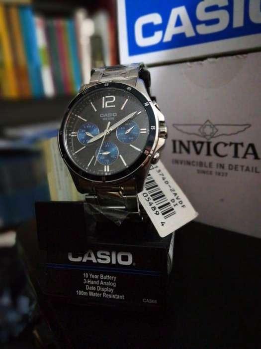Reloj Casio acero, plateado. Relojes hombre Citizen Fossil Invicta