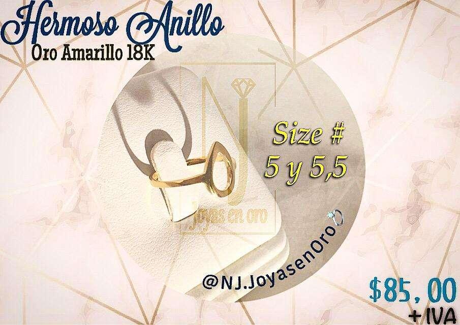 Hermoso Anillo en <strong>oro</strong> Amarillo