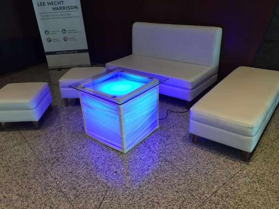 Alquiler de salas lounge , Mesas Cocteleras con licras , sillas Cocteleras y Carpas Blancas.